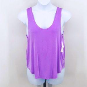 Neon Purple Loose Tank Top Tee Shirt XL